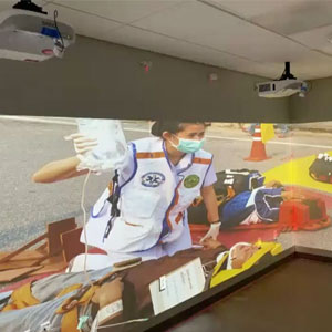 Enhanced Reality to Improve Teamwork and Event Management at GW Simulation Conference